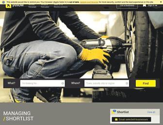 Main page screenshot of yellow.co.nz