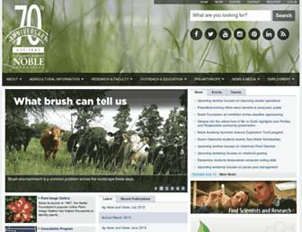 Main page screenshot of noble.org