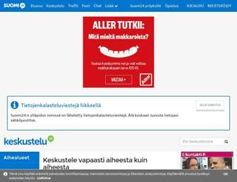 Main page screenshot of keskustelu.suomi24.fi