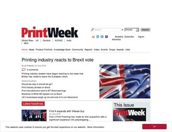 Thumbshot of Printweek.com