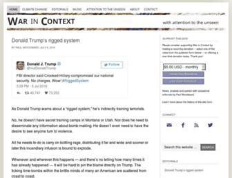 Main page screenshot of warincontext.org