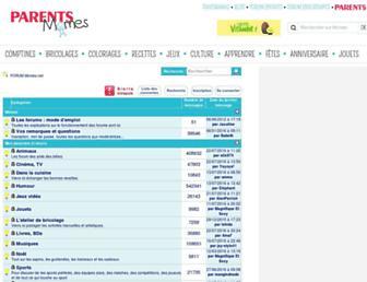 Main page screenshot of forum.momes.net