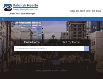 raleighrealtyhomes.com screenshot