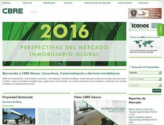 cbre.com.mx screenshot