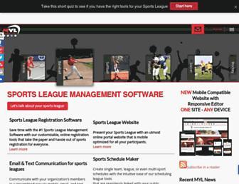 manageyourleague.com screenshot