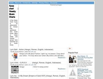 kpop-chartx.blogspot.com screenshot