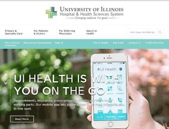 hospital.uillinois.edu screenshot