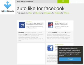 auto-like-for-facebook.en.uptodown.com screenshot
