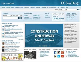 library.ucsd.edu screenshot