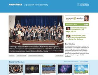 Main page screenshot of bnl.gov