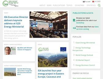 iea.org screenshot