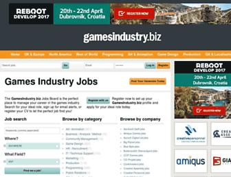jobs.gamesindustry.biz screenshot