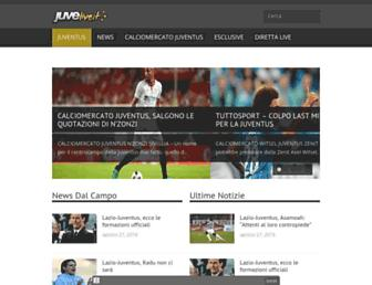 Main page screenshot of juvelive.it