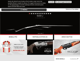 Main page screenshot of benelli.it