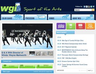 Main page screenshot of wgi.org
