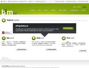 Main page screenshot of b2m.cz