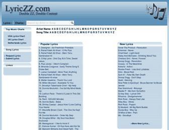 Thumbshot of Lyriczz.com
