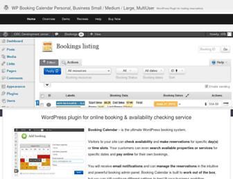wpbookingcalendar.com screenshot