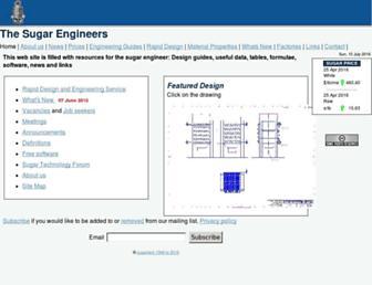 Main page screenshot of sugartech.co.za