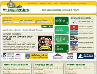 mylocalservices.co.uk screenshot