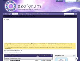 Main page screenshot of ezoforum.pl
