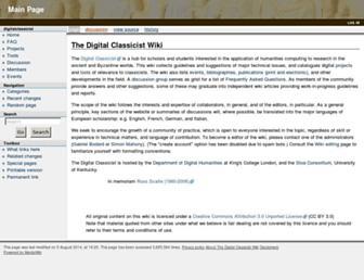 wiki.digitalclassicist.org screenshot