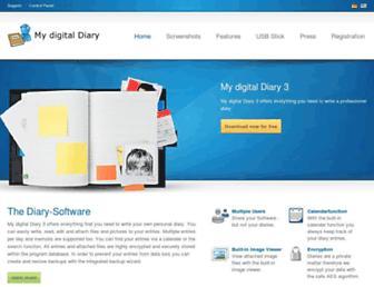 mydigitaldiary.com screenshot