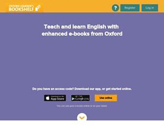 oxfordlearnersbookshelf.com screenshot