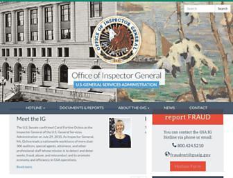 gsaig.gov screenshot