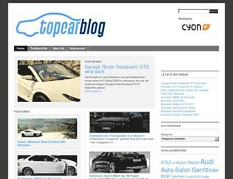 Main page screenshot of topcarblog.ch