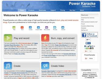powerkaraoke.com screenshot