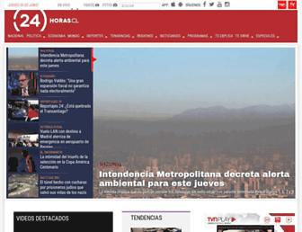 Main page screenshot of 24horas.cl