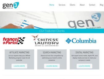 gen3marketing.com screenshot