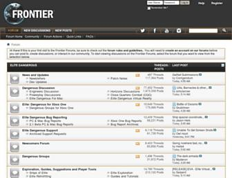forums.frontier.co.uk screenshot