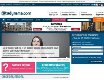 studyrama.com screenshot
