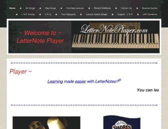 letternoteplayer.com screenshot