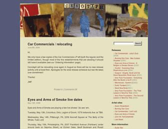 Main page screenshot of cenotaph.org