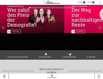 Main page screenshot of insm-suche.de