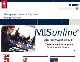 mis.eller.arizona.edu screenshot