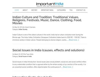 importantindia.com screenshot