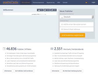 Main page screenshot of adklick.de