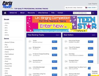 parismusic.co.uk screenshot