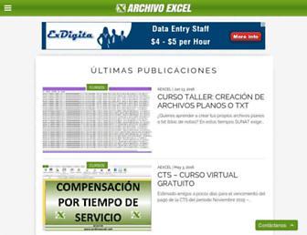 archivoexcel.com screenshot