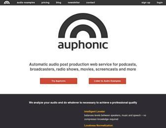auphonic.com screenshot
