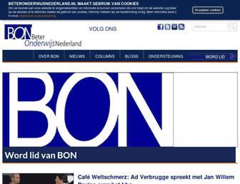 Main page screenshot of beteronderwijsnederland.nl