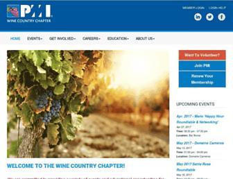 Main page screenshot of pmi-wcc.org