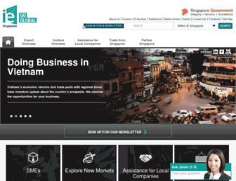 Main page screenshot of iesingapore.gov.sg