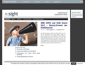 Main page screenshot of n-sight.de