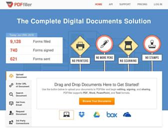 pdffiller.com screenshot