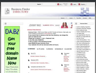 Main page screenshot of business-finder.info